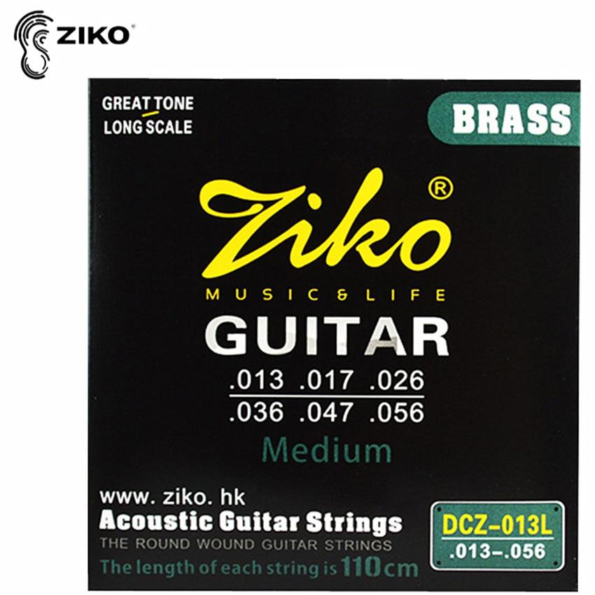 ZIKO DCZ-013L 013-056 Pirinç Akustik gitara torları Dəyirmi - Musiqi alətləri - Fotoqrafiya 1