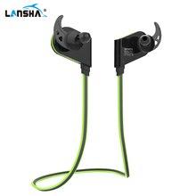 LANSHA Magnética Wireless Sport Banda Para El Cuello Auriculares Running Sweatproof Música Estéreo Auriculares Con Micrófono Bluetooth 4.1 Auricular de Teléfono