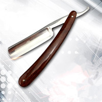 Japan440C Steel Straight Razor Men Shaving Razors Barber Barbeador Copper Manual Shaver Classic Scraper