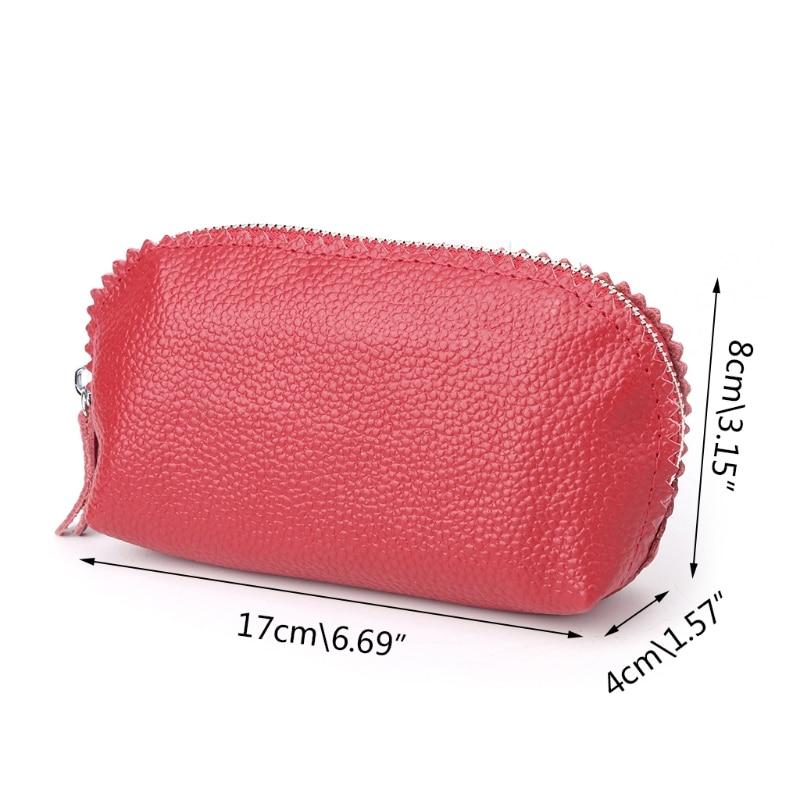 THINKTHENDO Soft Women Wristlet Bags Credit Card Coin Key Holder Zip Wallet Pouch Bag Purse
