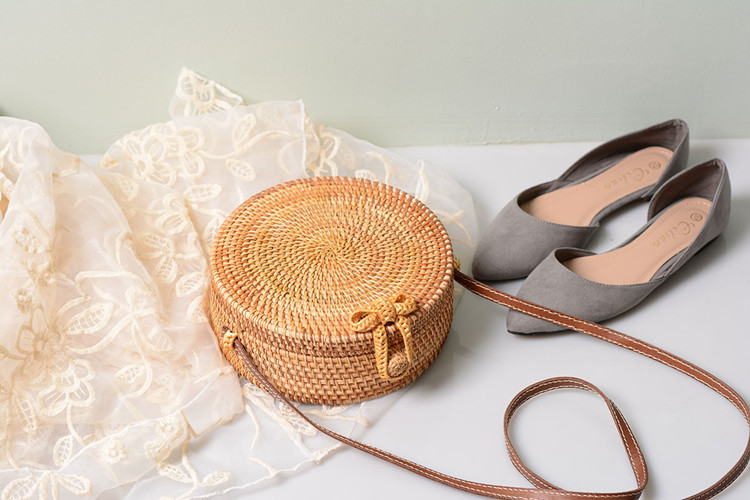 18 Round Straw Bags Women Summer Rattan Bag Handmade Woven Beach Cross Body Bag Circle Bohemia Handbag Bali 27