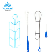 AONIJIE Hydration Bladder Cleaning Kit for Universal Water Reservoir 4 in 1 Cleaner Set Brushes Bag