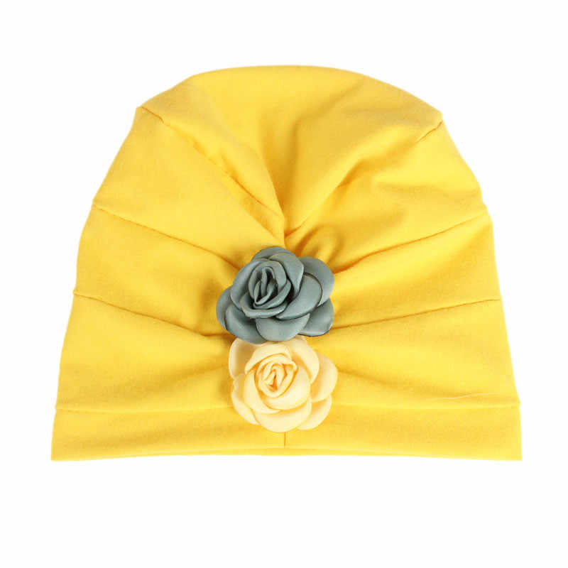 ... New Flower Design Baby Hats Fashion Children s Cotton Hat Girls India  Cap Baby Beanie Cap Accessories fe6abf88a00
