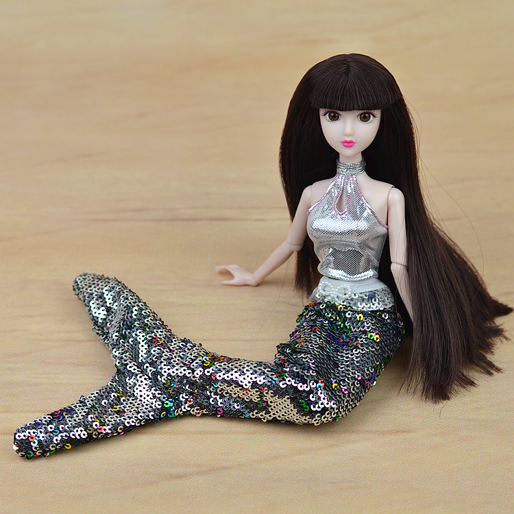 Handmade-Dolls-Party-Dress-Gown-Skirt-Fashion-Clothes-For-Barbie-Doll-Genuine-Mermaid-Tail-Dress-Baby-Toy-3