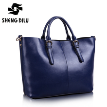 Shipping Free Fashion Women Handbag 100% Genuine Leather Cowhide Leather Tote Bag Women's Large Capacity Messenger Bags