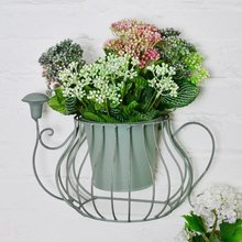 Antique iron watering flower stand wall decoration shop wall Creative Pastoral Home Furnishing flower pot holder