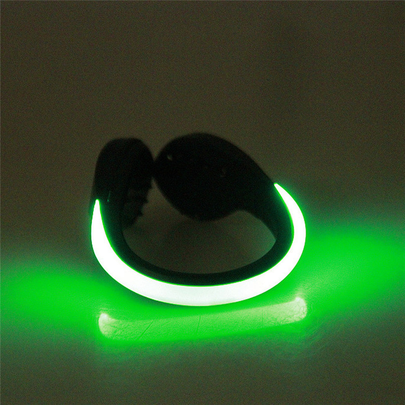 LED Luminous Shoe Clip Light Night Safety Warning LED Flash Light For Running Cycling Bright Flash Light Useful Outdoor Tool #2n (10)