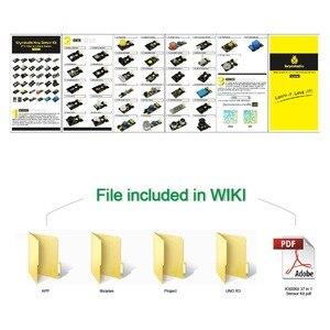 Image 5 - Nuovo Imballaggio! keyestudio37 in 1 Sensore di Kit per la Programmazione Arduino di Istruzione (37pcs Sensori) + 37 progetti + PDF + Video