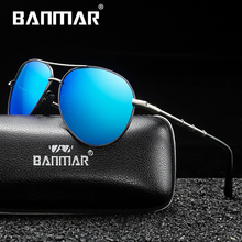 BANMAR Polarized Sunglasses Men Pilot Brand Designer Male Vintage Sun Glasses For Men Eyewear Oculos Gafas De Sol Masculino luxury brand aluminum magnesium polarized sunglasses men vintage designer sun glasses for men eyewear male oculos masculino de