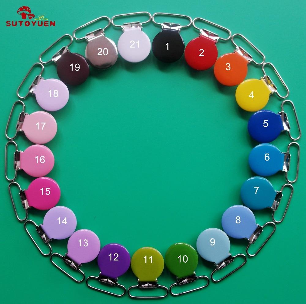 50 stks emaille ronde metalen jarretelle clips met plastic tanden, - Voeden - Foto 1