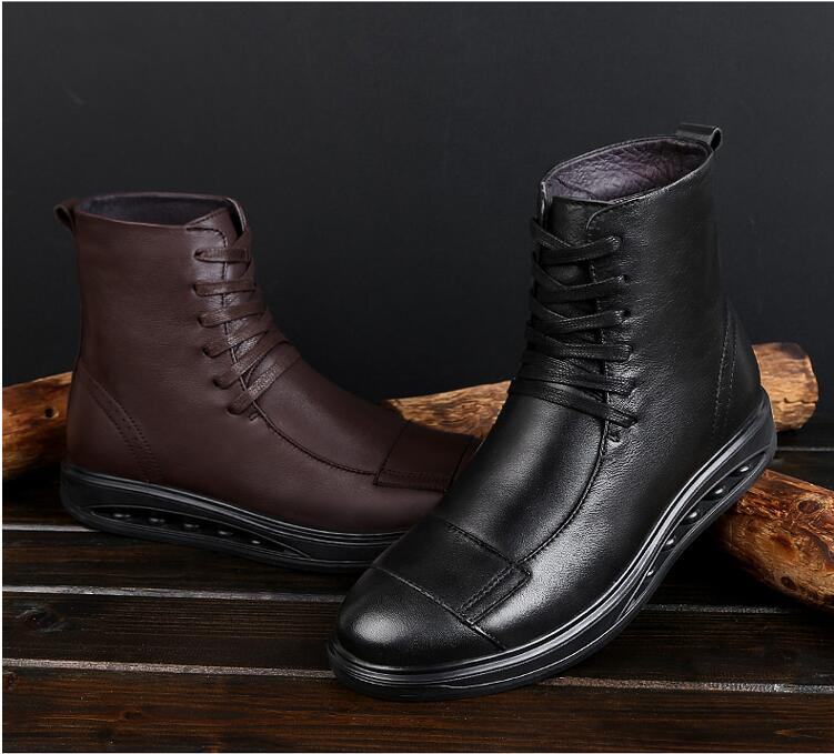Hot new motorcycles racing boots men s boots genuine leather waterproof big size four seasons motorcycle