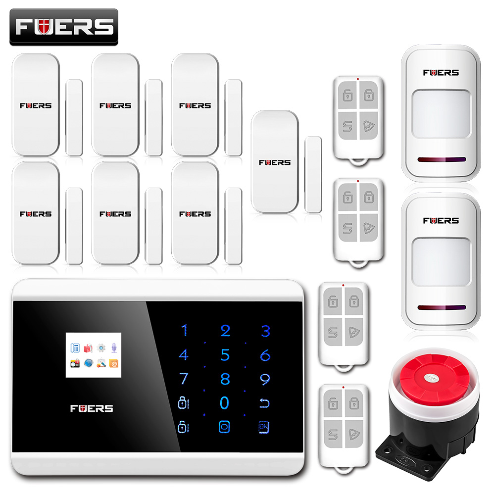 fuers Android IOS Touch Screen Keypad+LCD TFT display Wireless GSM PSTN SMS Home/house Security Burglar Voice Smart Alarm System
