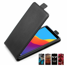 Leather Case For on Honor 7A Pro Case Flip back Cover Phone Case For on Huawei Honor7A 7 A Pro Case For on Huawei Y6 Prime 2018(China)
