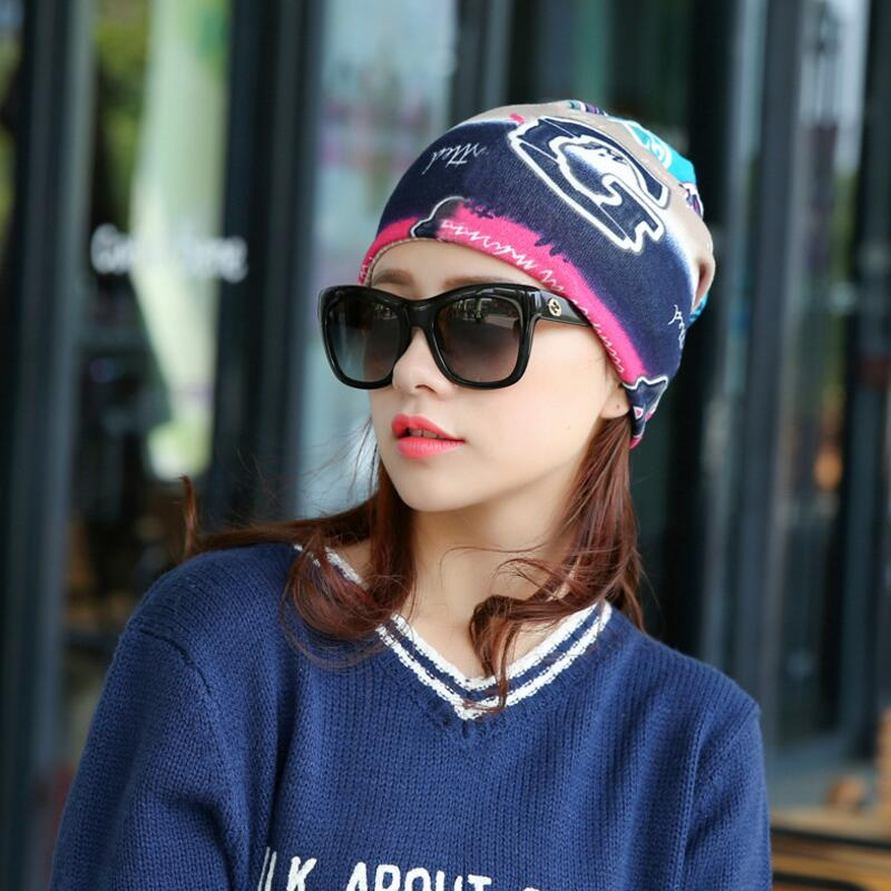 7bed81b7083 Spring 3 Way To Wear(as beanies ring scarf headscarf) Neck Warmer Beanie  Cap Autumn Hat For Women Girl Bonnet femme Gorros mujer-in Skullies    Beanies from ...