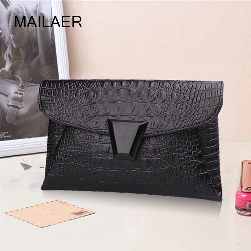 For Crocodile small bag envelope bag fashion women's handbag 2017 one shoulder cross-body bags female