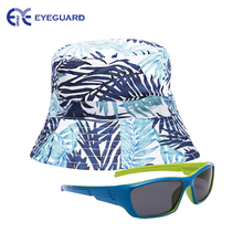 EYEGUARD UV400 Boy's Kids Sunglasses and Sun Hats Combo Children Beach Cap