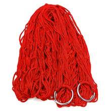 100% New RED Nylon Hammock Hanging Mesh Net Sleeping Bed Swing Outdoor
