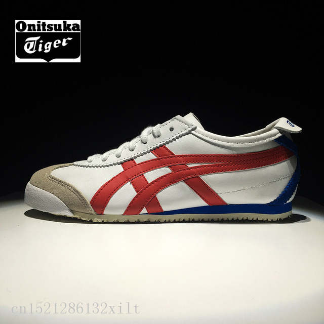san francisco c41be 6c316 ONITSUKA TIGER MEXICO 66 sheepskin Classics Shoes Men and Women Sneakers  Badminton Shoes D4J2L-0123 size36-44