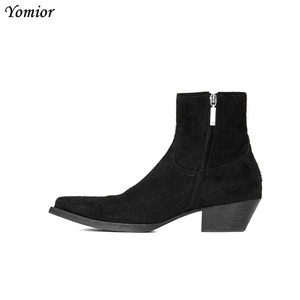 Image 4 - New Classic Brand Design Genuine Leather Men Ankle Boots Fashion Autumn Winter High Quality Chelsea Boots Dress Platform Boots