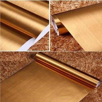 Papel Pintado Youman3D, Película Autoadhesiva De PVC Autoadhesiva De Color Dorado Y Plateado, Muebles Reacondicionados A Prueba De Agua