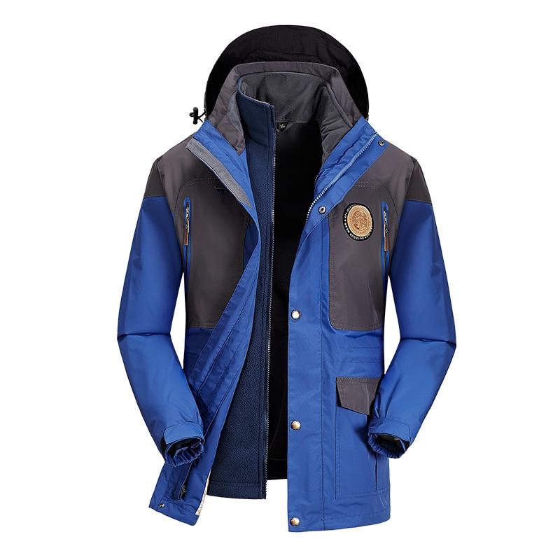 AFS JEEP New arrival 2018 Winter jacket men liner detachable windproof waterproof fleece jacket brand outerwear men parka