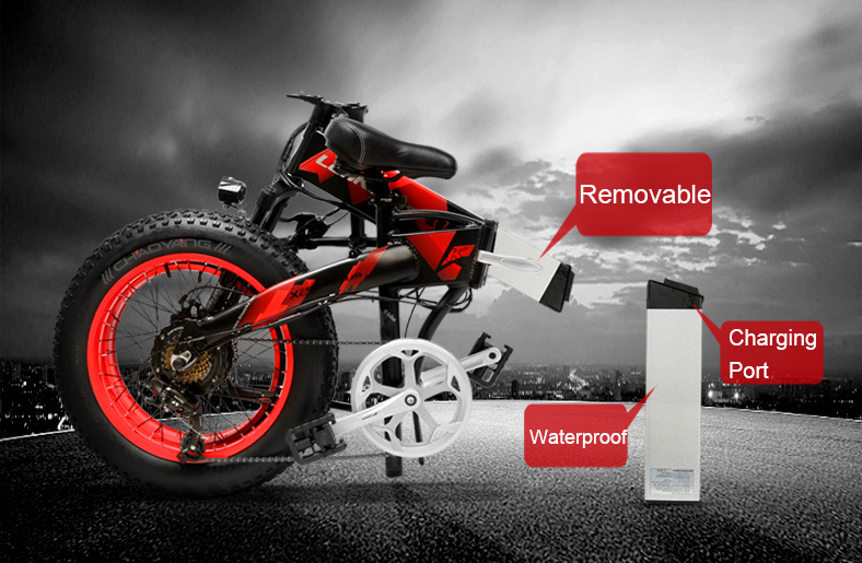 HTB1XtbMborrK1RkSne1q6ArVVXac - 20 Inch Electrical Snow Bike Electrical Bicycle Two Wheel Brushless Motor 500W 48V Mountain Bike Folding Moveable Electrical Scooter