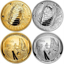 2019 US  Apollo 11 Moon Landing Gold Silver Commemorative 50th Anniversary Coin Gifts