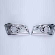 Freies Verschiffen Hohe Qualität ABS Chrome Nebelscheinwerfer abdeckung Trim nebelscheinwerfer schatten Trim Für Toyota Fortuner