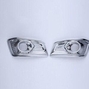 Image 1 - O Envio gratuito de Alta Qualidade ABS Frente Chrome nevoeiro tampa Guarnição sombra luz de nevoeiro da Guarnição Para Toyota Fortuner