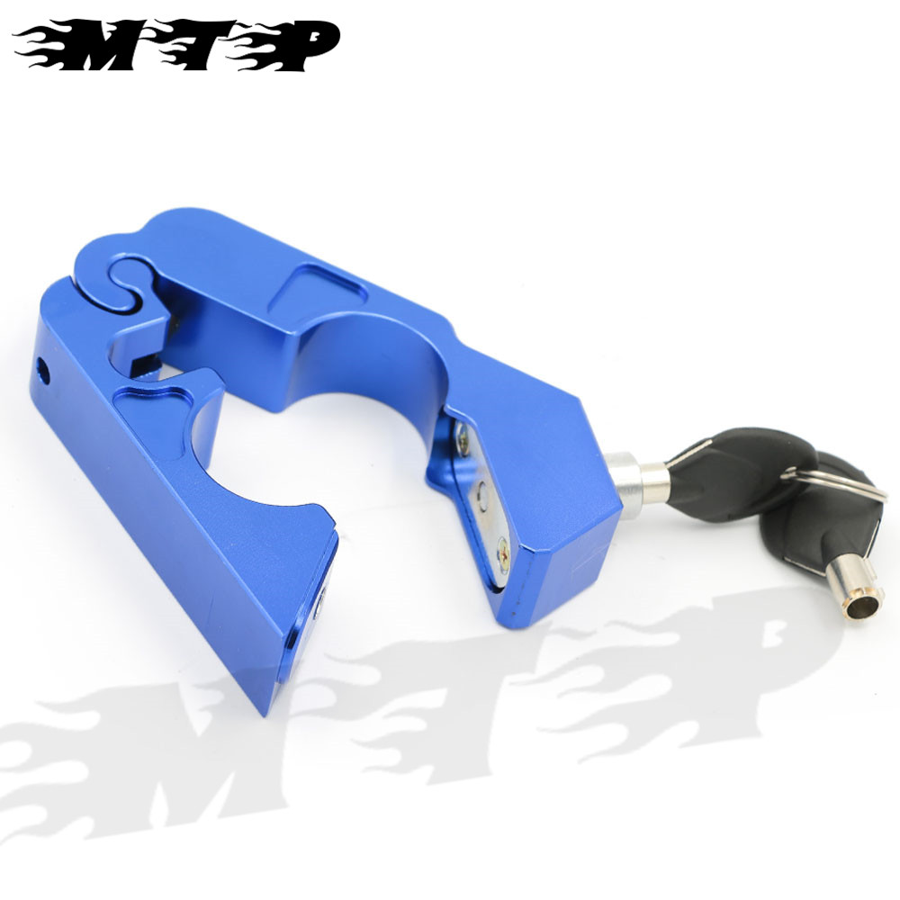 Motorcycle CNC Aluminum Anti-Theft Security Lock Universal Scooter Bicycle Handlebar Brake Lever Throttle Grip Safety Lock