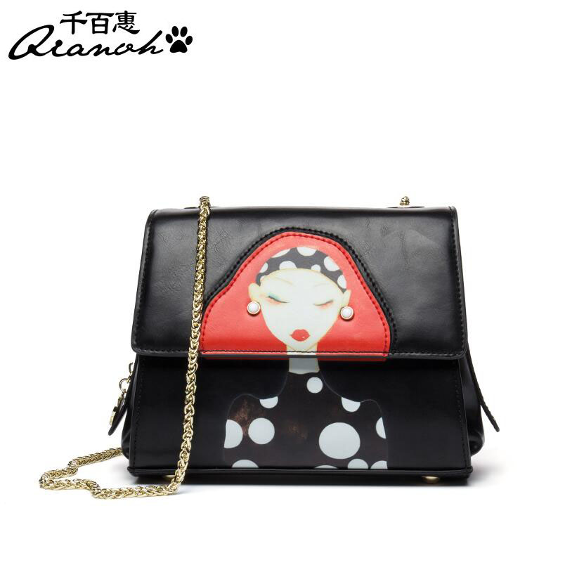 Fashion Messenger bag 2017 new wild shoulder bag Personality small square package Women bag Chain bag shengdilu brand small square package new 2017 women 100