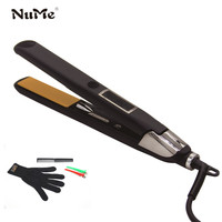 Negation Ions Curling Iron Professional Ceramic Hair Straightener Electric Hair Curler Styling Tools LCD Flat Iron