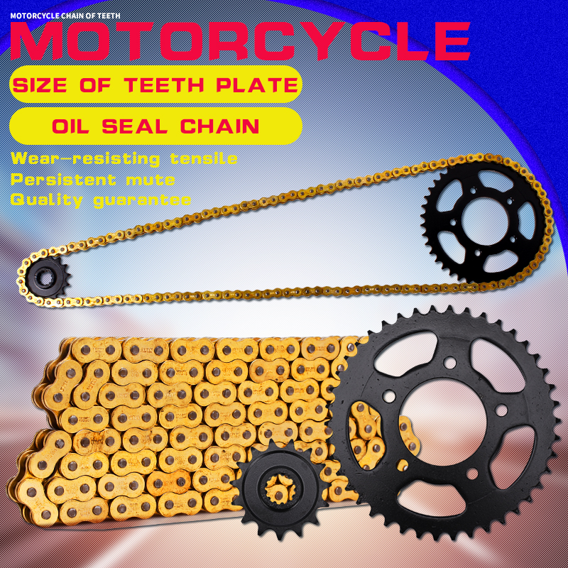 1 Set Motorcycle Accessories Front and Rear Gear Sprocket Chain DID 525 Chain For Honda CB400