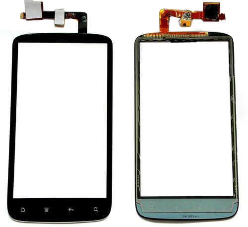 Per HTC Sensation 4G G14 Z710E Touch Screen Digitizer Frontale Obiettivo di Vetro Sensore Pannello di Colore Nero Con nastro