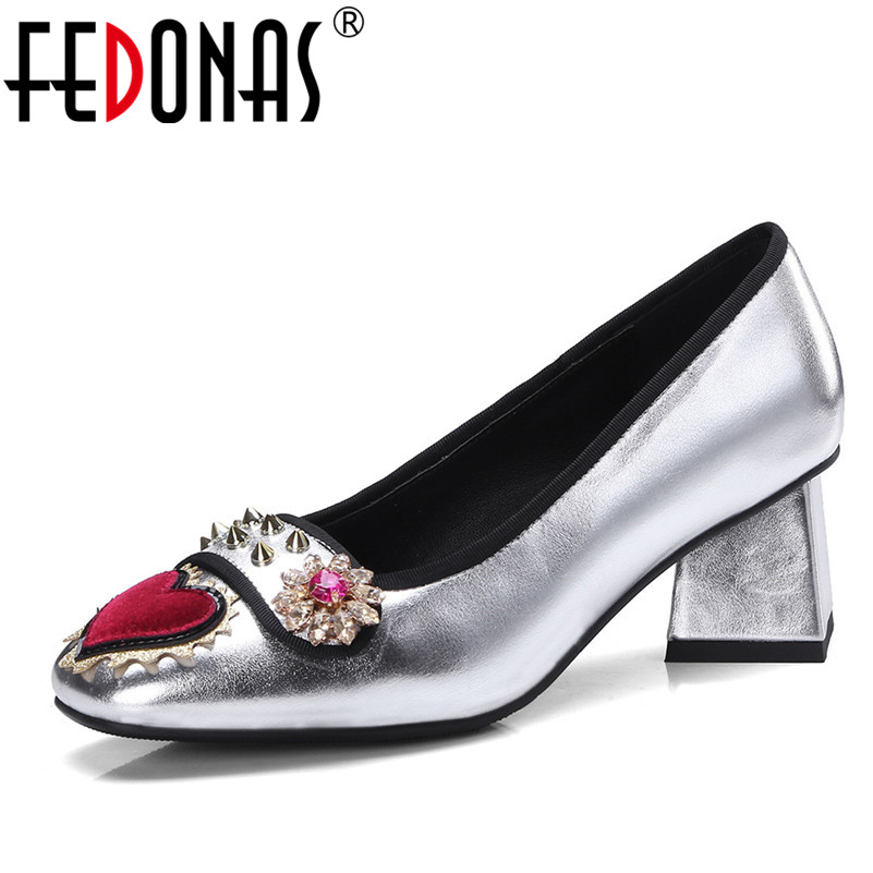 FEDONAS Spring Autumn Women Pumps Sexy Blue Silver High Heels Shoes Woman Fashion Round Toe Wedding Shoes Party Women Pumps 2017 elegant high heels fashion bowtie ladies pumps sexy spring autumn platform shoes woman black and blue women shoes hds72