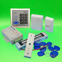 Brand New DIY 125khz Rfid Door Access Control Kit Set With 350lbs Electric Magnetic Lock Card