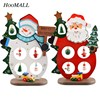 Hoomall 1Sets Wooden Christmas Tree Navidad Ornaments Christmas Decoration For Home Santa Claus Snowman Craft Party