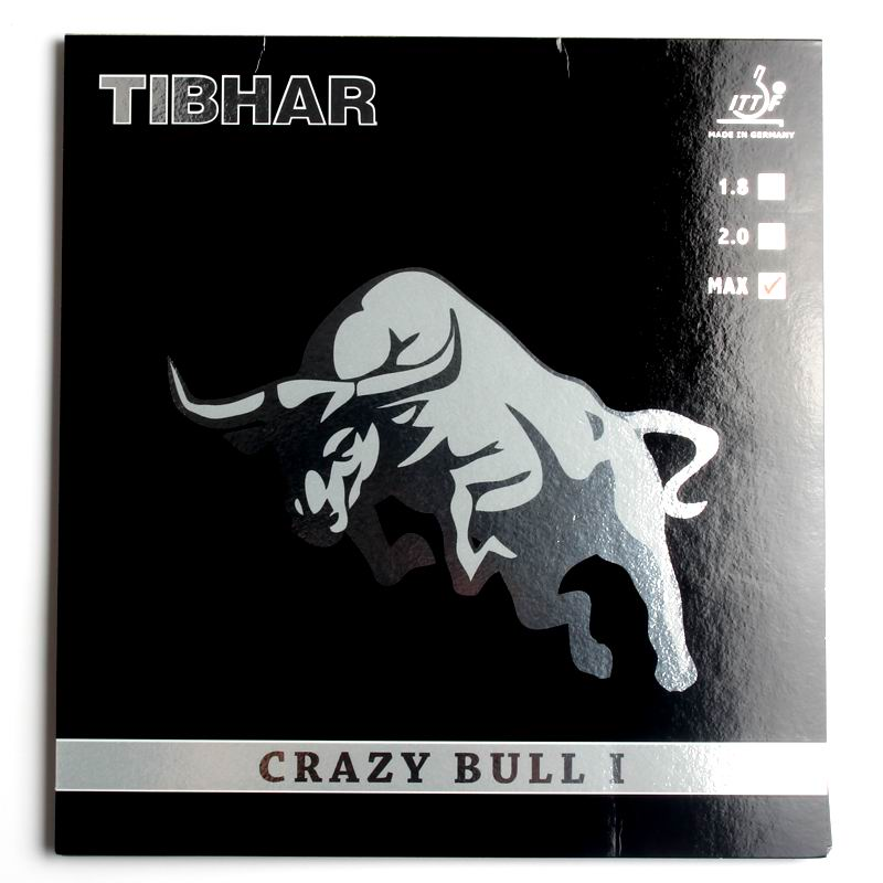 Original Tibhar CRAZY BULL I table tennis rubber for 40+ new material ping pong game made in Germany good in speed and spin поло print bar i made in 1997