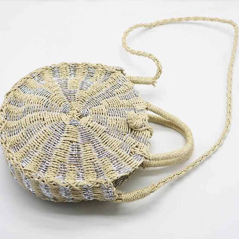 2019 леди свежие сумочку Винтаж ручной работы плетёная ротанговая круглый Сумочка Соломенная Сумка вязаная Курьерские сумки для Для женщин L35