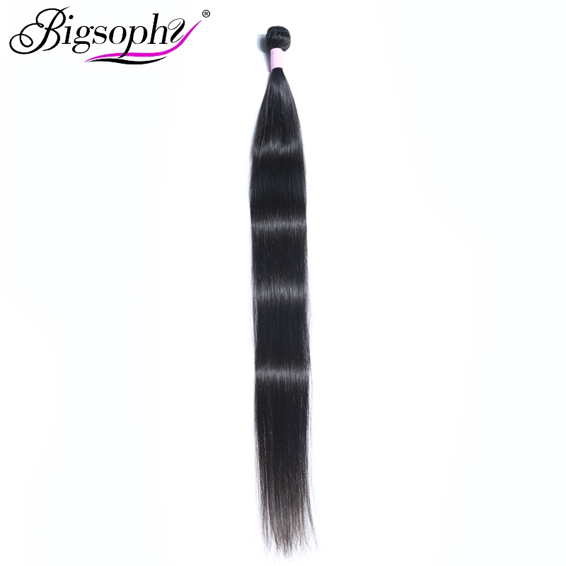 Bigsophy Long Length 28 30 32 34 36 38 40 inches Brazilian Long Hair Bundles Straight Human Hair Weave 1 Piece Hair Extensions