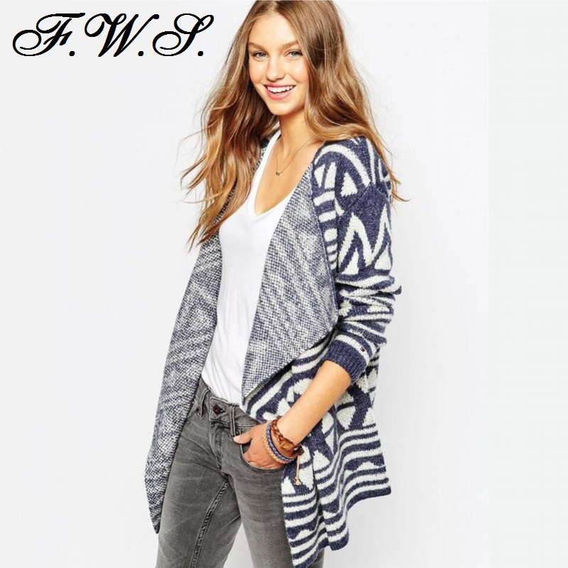 Womens Sweaters Fashion Vintage Autumn Clothing Winter Shrug ...