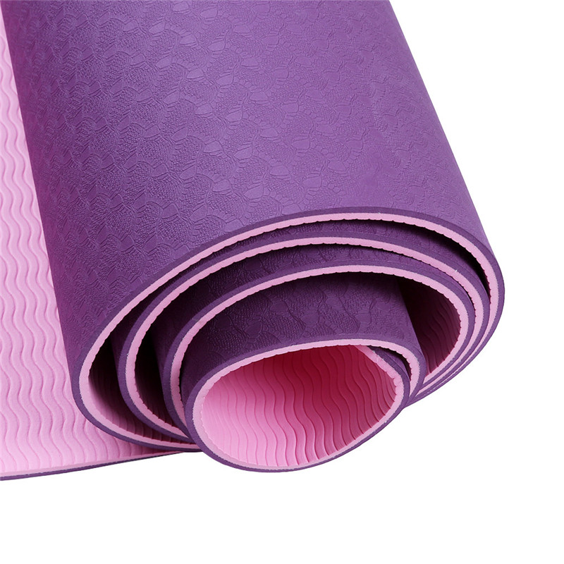Double Colors TPE Yoga Mat Exercise Pad 6mm Thick Non-Slip Gym Fitness Mat Pilates Yoga Exercise Fitness Training Accessories iunio yoga mats 15mm fitness mat for body building exercise pilates home gym training folding eva pad outdoor camping yoga mat