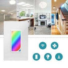 Luz de escena LED RGB de pared Wifi interruptor de luz inteligente 1200 colores 2W RGB Luz de escena cambio de Color trabajo con asistente de Google Alexa