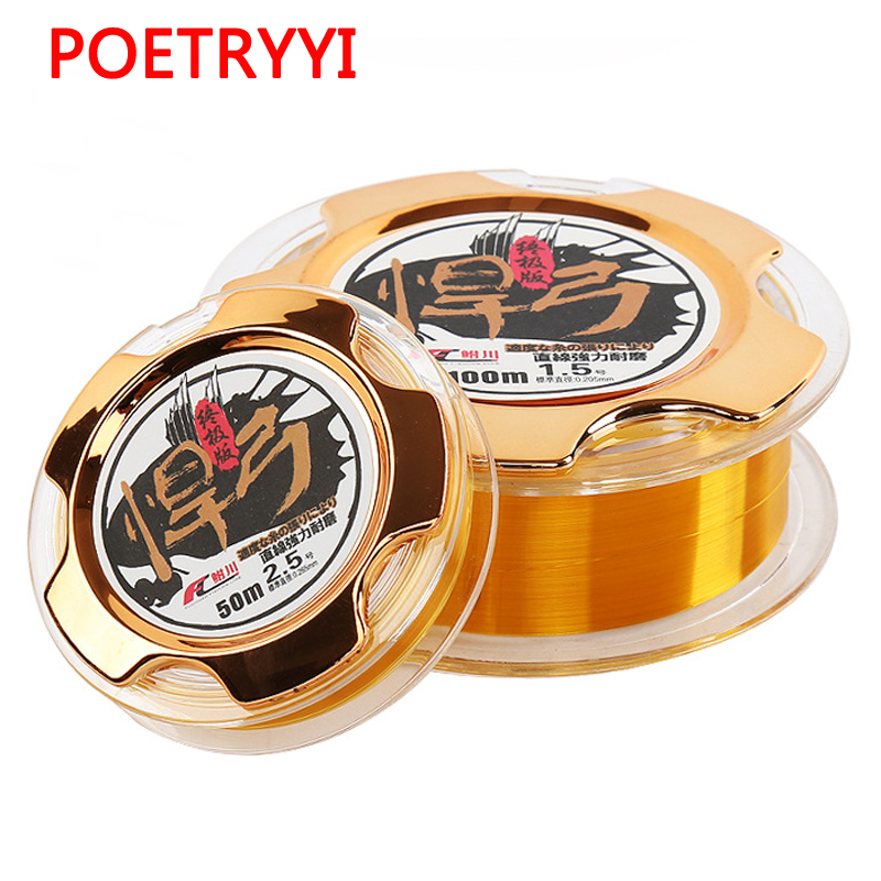 50m/100m Mainline/Tippet Monofilament Nylon Fishing Line Japan Material Not Bass Carp Fish Accessories 30