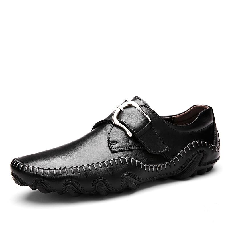 Qualité Haute 1 Cuir New Appartements Véritable Style Times 3 Roman Hommes Chaussures Mode En Doux 2 Automne Mocassins 8PZzZRq