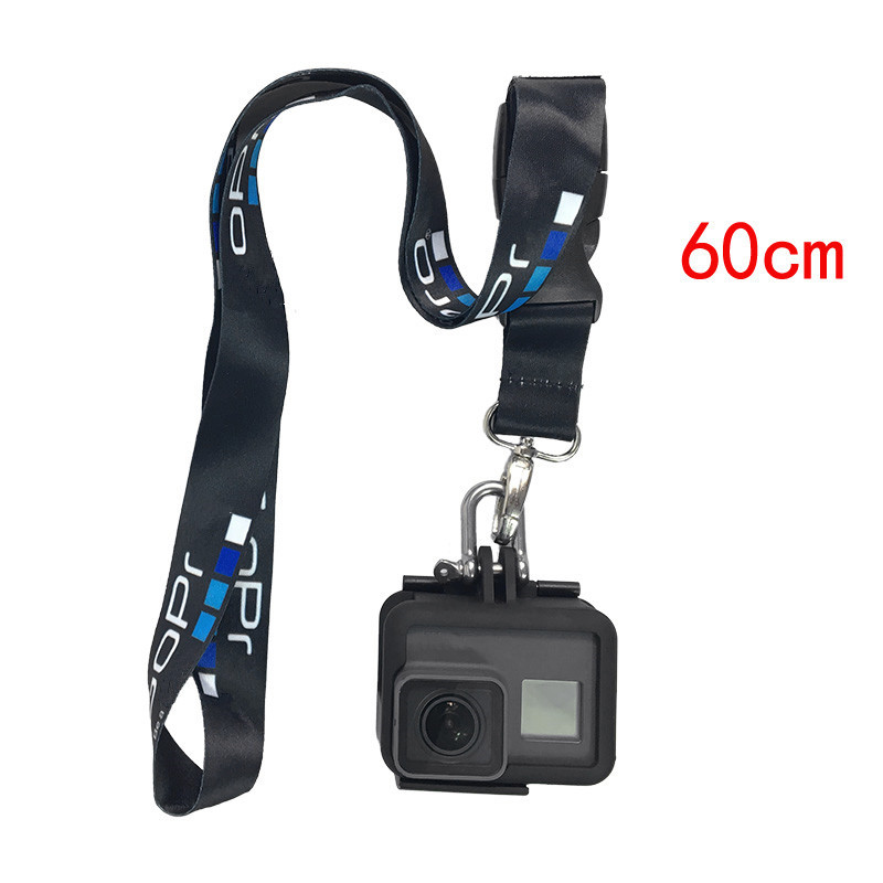 Image 5 - Rope for Gopro hero 8 7 6 5 Sjcam Neck Strap lanyard with Quick release Buckle for Gopro h9 DJI Action Sports Camera Accessories-in Sports Camcorder Cases from Consumer Electronics