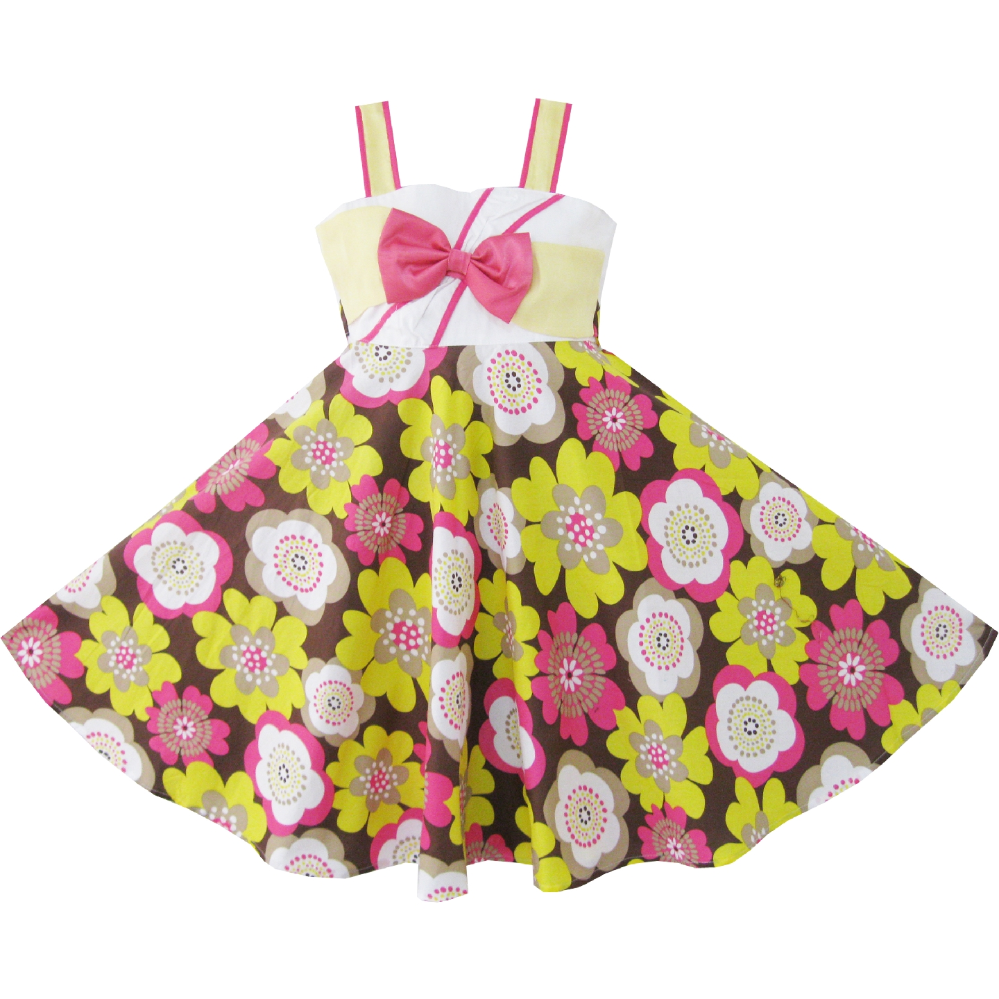 Girls Dress Yellow Pink Flower Party Sundress Child Clothes Cotton 2019 Summer Princess Wedding Dresses Kids Clothes PageantGirls Dress Yellow Pink Flower Party Sundress Child Clothes Cotton 2019 Summer Princess Wedding Dresses Kids Clothes Pageant