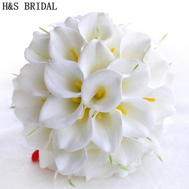 Beautiful white yellow calla lily wedding bouquet brides beautiful white yellow calla lily wedding bouquet brides bridesmaid artificial flower buque de noiva bouquet wedding junglespirit Images