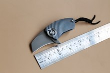 DMITRY SINKEVICH Bear head ball bearing S35VN blade Titanium Handle folding Hunting pocket outdoor camping knife knives EDC tool