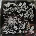 Nail Stamping Plates Square Stainless Steel Nail Plates TU 6*6cm Nail Art Image Konad Print Stamp Stamping  Manicure Template